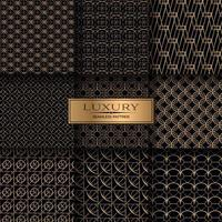 ensemble de motifs géométriques sans soudure de luxe or
