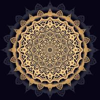 mandala soleil doré sur fond noir