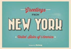 New york greeting illustration vecteur