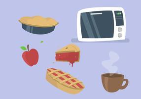 Vecteurs de cuisson à la tarte à la pomme vecteur