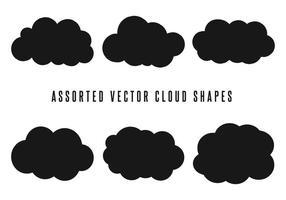 Formes de base de nuages vectoriels vecteur