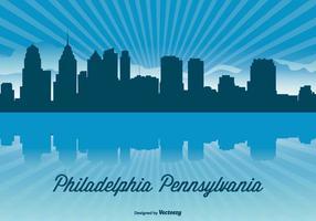 Illustration d'horizon de Philadelphie vecteur
