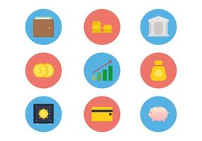 Vecteurs d'icônes de banque