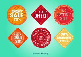 Offres d'été chaudes vecteur