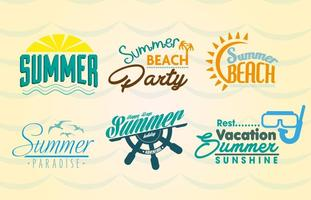 Étiquettes de plage d'été vecteur