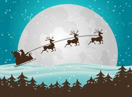 Fond de Noël du Père Noël vecteur