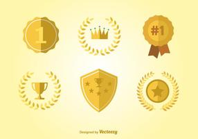 Badges et rubans de la première place vecteur