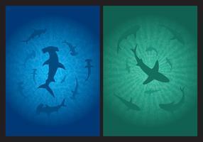 Vecteurs de fond de requin vecteur
