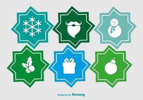 Pictogrammes plats de Noël