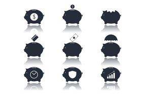 Vecteurs d'icônes de banque vecteur