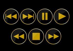 Icônes de bouton de jeu de vecteur