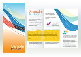 Brochure de courbes de conception d'entreprise vecteur