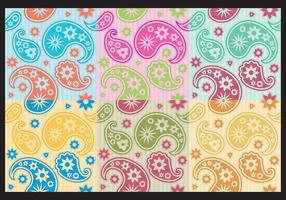 Patterns Colorés Paisley vecteur
