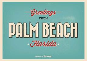 Palm beach florida greeting illustration vecteur