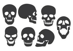 Vecteurs de silhouette de crâne vecteur