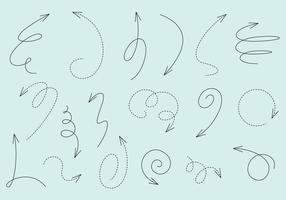 Vecteurs de flèches linéaires vecteur