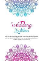 modèle d'invitation de mariage double mandala vecteur
