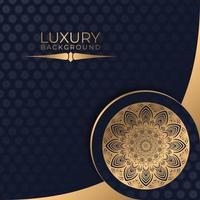 mandala doré chevauchement conception de papier motif noir