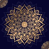 design floral mandala doré