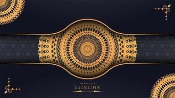 Conception de papier de mandala de luxe 3D