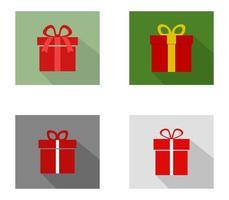 ensemble d'icônes de cadeaux vecteur