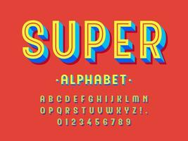 conception de l'alphabet 3d à la mode moderne vecteur