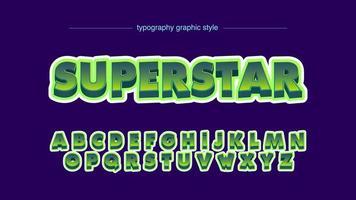 typographie de dessin animé 3d vert super audacieux