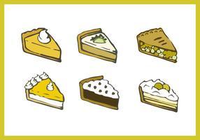 Illustrations de tarte aux pommes gratuites vecteur