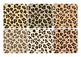 Vecteurs de motif de léopard gratuits vecteur