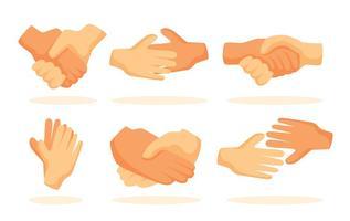 Icônes de poignée de main vecteur