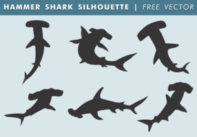 Marteau requin silhouette vecteur libre