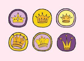 Série de vecteur Logo de la Couronne libre