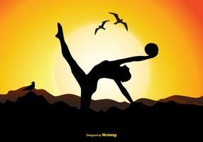 Illustration de silhouette de gymnaste vecteur