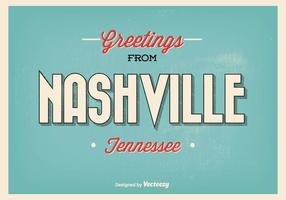 Nashville tennessee greeting illustration vecteur