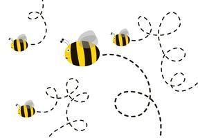 Vecteur d'abeilles mignon gratuit