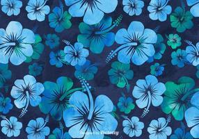 Fond d'aquarelle Hibiscus gratuit vecteur