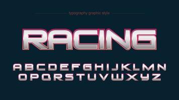 alphabet de sport moderne chrome rouge