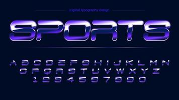 violet brillant chrome sports artistique alphabet