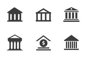 Vecteur d'icône de banque gratuite