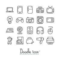jeu d'icônes de dispositif domestique vecteur
