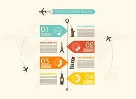 Modèle gratuit de vecteur d'infographie chronologique
