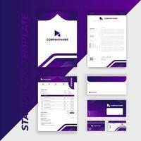 identité de marque sertie d'accents à angles arrondis violets vecteur