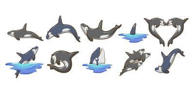 ensemble d'orque de dessin animé