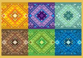 Patterns aztèques pixelés vecteur