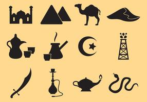 Icônes du Moyen-Orient vecteur