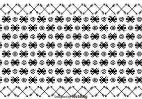 Ornement aztèque et motif de flèche vecteur