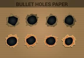 Des vecteurs de papier à trous supérieurs