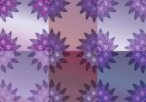 Vecteurs de fond abstraits violets floraux