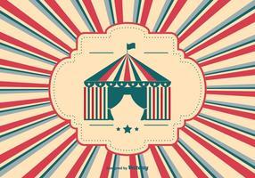 Illustration de fond de cirque de style rétro vecteur