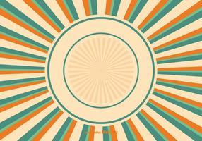 Illustration colorée d'arrière plan de sunburst vecteur